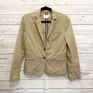 Rag & Bone | khaki button front blazer